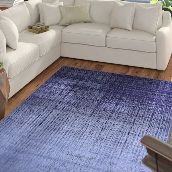 Dungan Blue Area Rug by Mercury Row