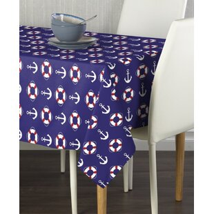 Clear Footprint Baby Shower Plastic Tablecloth. Nautical Themed Party Decor
