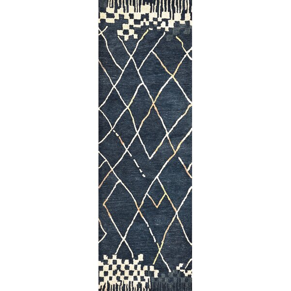 Hargis Hand-Tufted Wool Navy Area Rug by Ivy Bronx