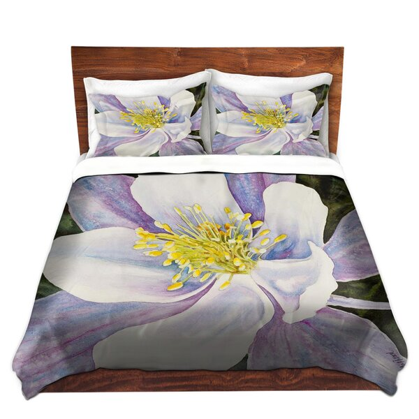 Maust Anne Gifford Columbine Flower Microfiber Duvet Covers by Red Barrel Studio
