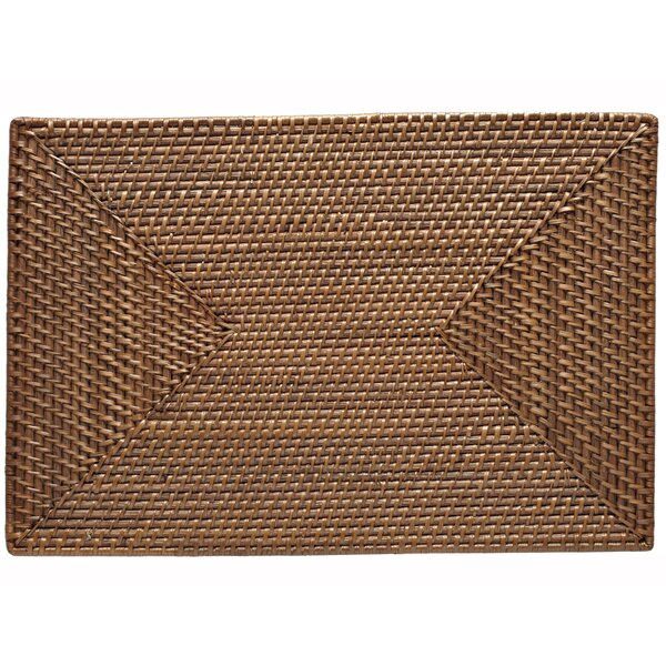Napoli Rectangular Rattan Placemat (Set of 2) by Laurel Foundry Modern Farmhouse