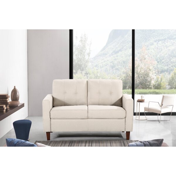 Molinari Tufted Loveseat by Wrought Studio