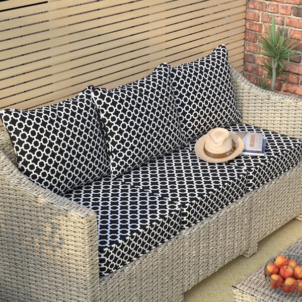 Geometric Indoor/Outdoor Sofa Cushion by Zipcode Design