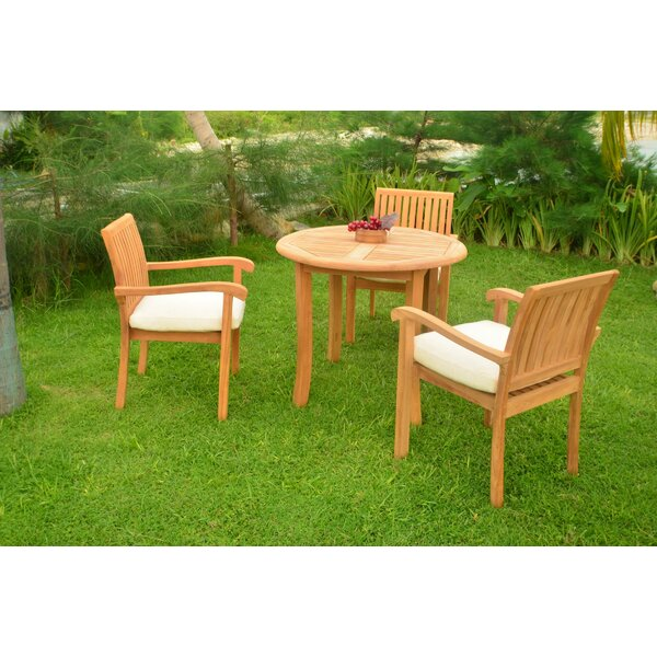 Onique Luxurious 4 Piece Teak Dining Set by Rosecliff Heights