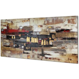 Collage Abstract by Tina O. Painting on Wrapped Canvas by Hobbitholeco.