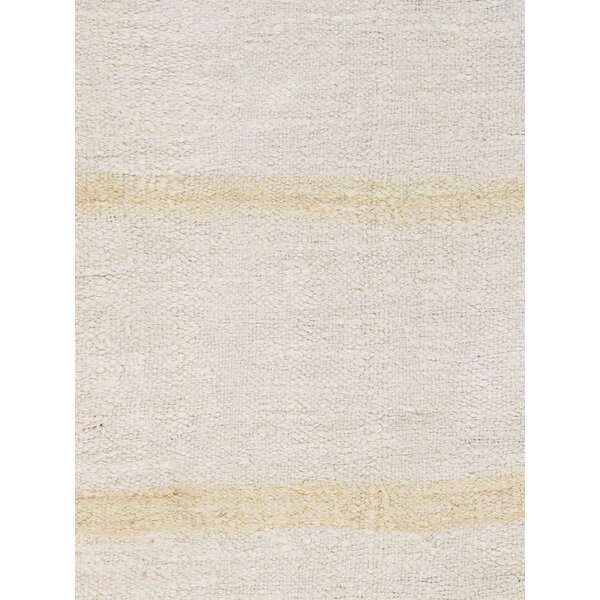 Turkish Kilim Hemp Hand-Woven Ivory Area Rug by Pasargad
