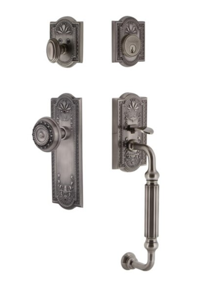 Parthenon Single Cylinder Handleset with Knob by Grandeur