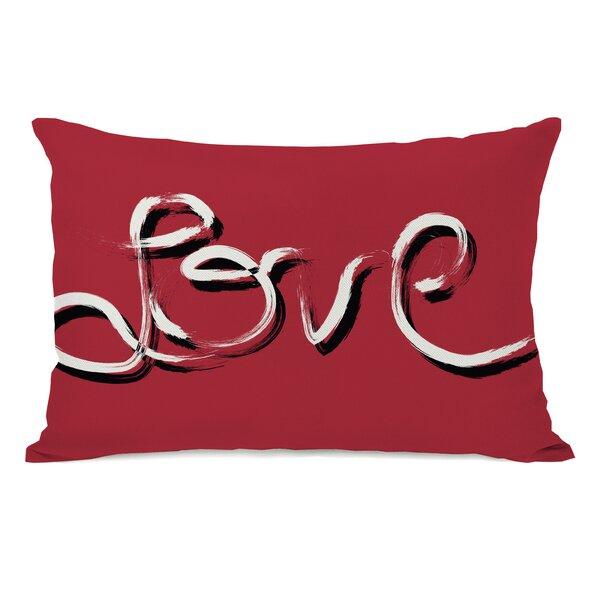 Hand Painted Love Lumbar Pillow by One Bella Casa