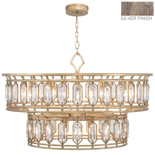 Westminster 20-Light Unique / Statement Tiered Chandelier By Fine Art Lamps