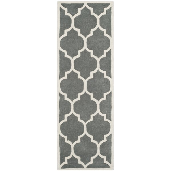 Wilkin Hand-Tufted Wool Dark Gray Area Rug by Wrought Studio