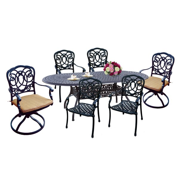Dolby 7 Piece Dining Set with Cushions by Astoria Grand