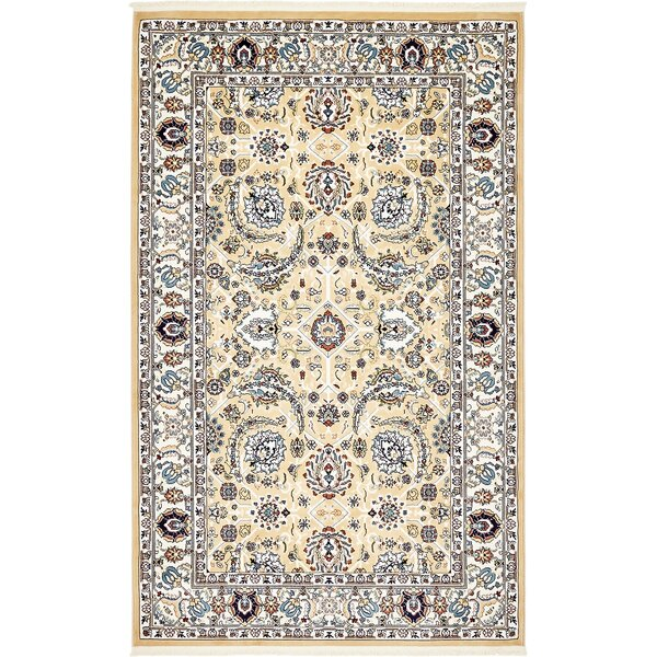 Courtright Tan/Ivory Area Rug by Charlton Home