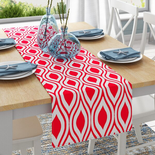 Cantrell Teardrop Design Printed Table Runner by Zipcode Design