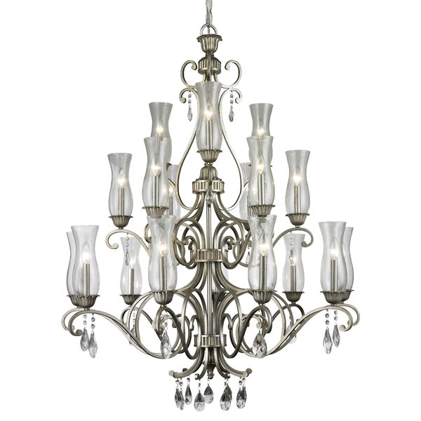 Guernsey 18 - Light Shaded Tiered Chandelier by Alcott Hill Alcott Hill