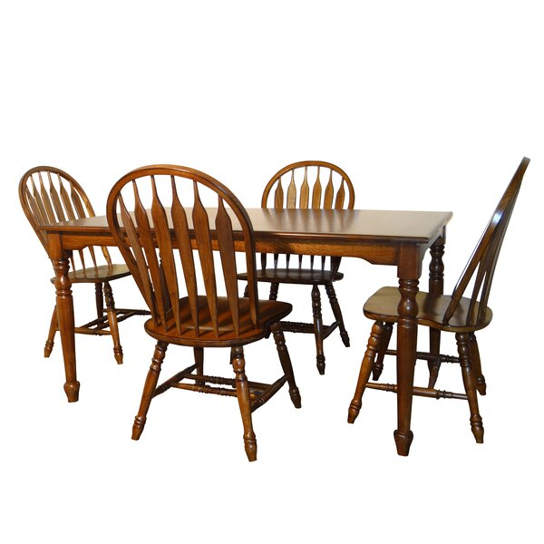 Laguna 5 Piece Solid Wood Dining Set By Darby Home Co