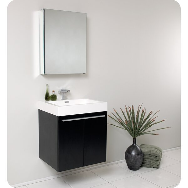 Senza 23 Single  Alto Modern Bathroom Vanity Set with Mirror by FrescaSenza 23 Single  Alto Modern Bathroom Vanity Set with Mirror by Fresca