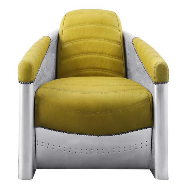Merrie Brancaster Aluminum Armchair by 17 Stories