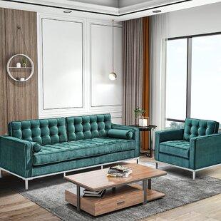 2 Pieces Velvet Living Room Set by Orren Ellis