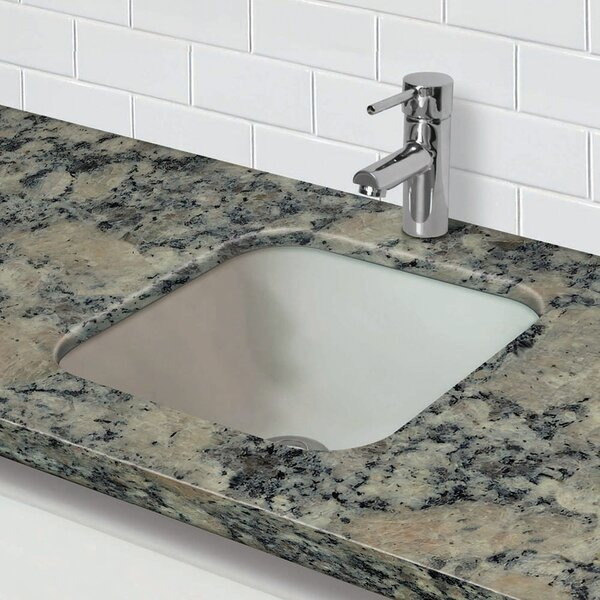 Translucence Glass Square Undermount Bathroom Sink by DECOLAV