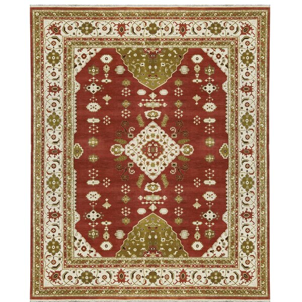 One-of-a-Kind Trinity Hand-Knotted Wool Rust/Ivory Area Rug by Bokara Rug Co., Inc.