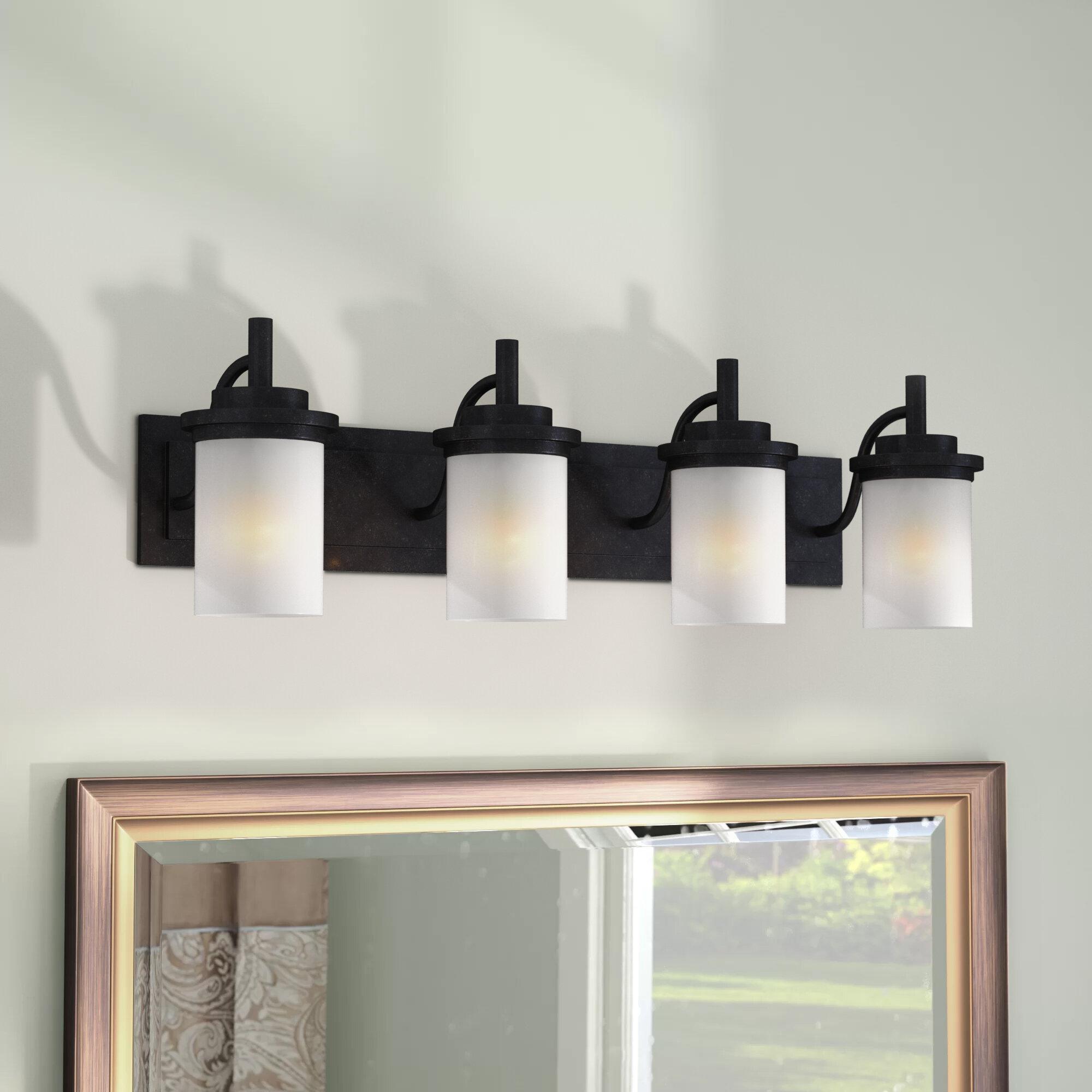 Charlton Home Tilford 4 Light Dimmable Vanity Light Reviews Wayfair