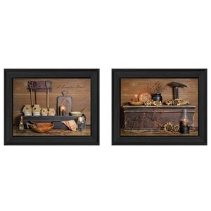 'Rustic' 2 Piece Framed Graphic Art Print Set by Trendy Decor 4U