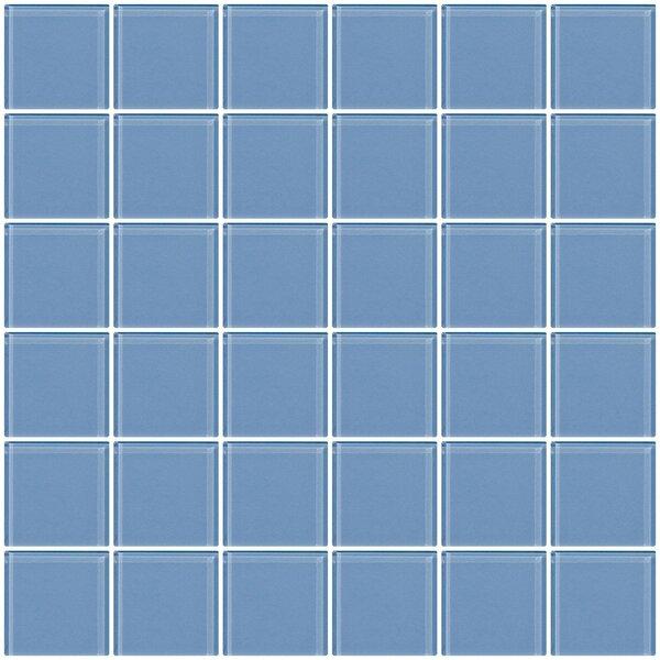 Bijou 22 2 x 2 Glass Mosaic Tile in Light Periwinkle Blue by Susan Jablon