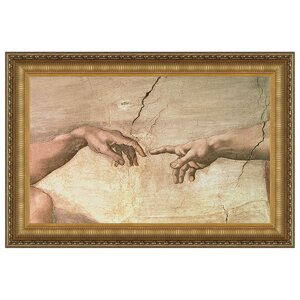 Creation, 1508-1512 by Michelangelo Buonarroti Framed Painting Print by Design Toscano