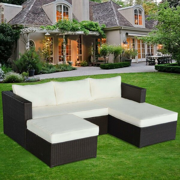 Marino 3 Piece Conversation Set with Cushions by Mano Patio