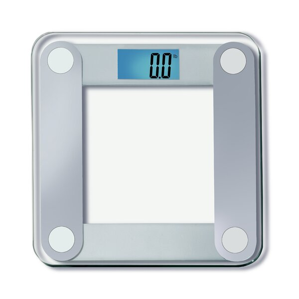 Digital Bathroom Scale with Extra Large Backlight in Silver by EatSmart