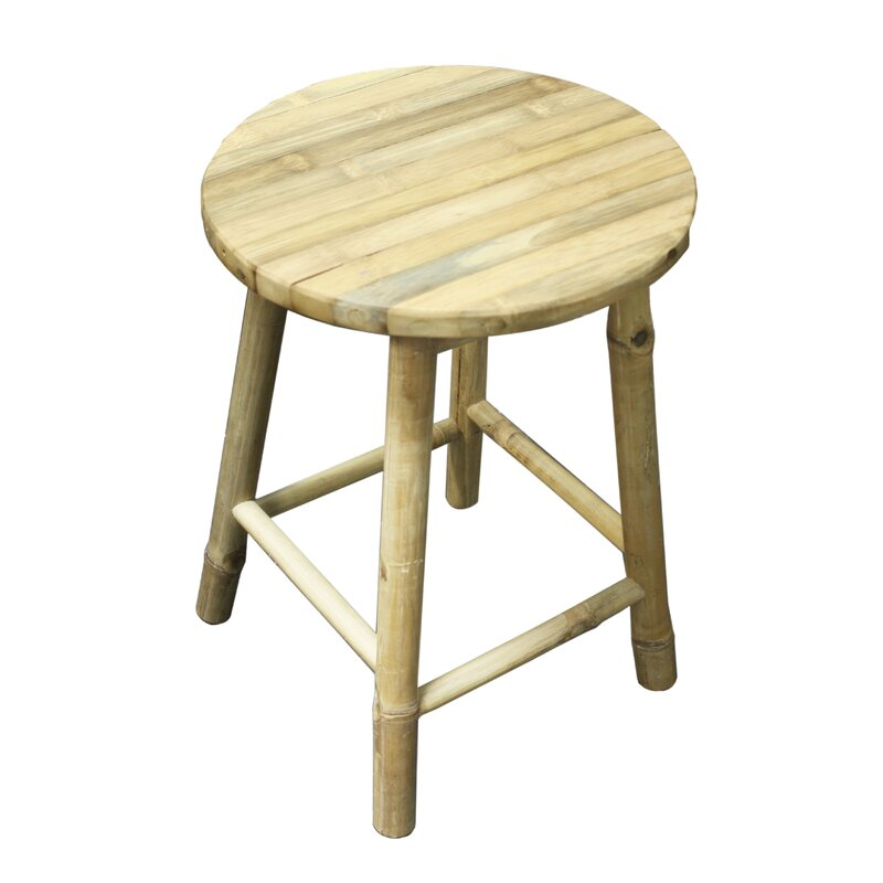 Greer Bamboo Accent Stool