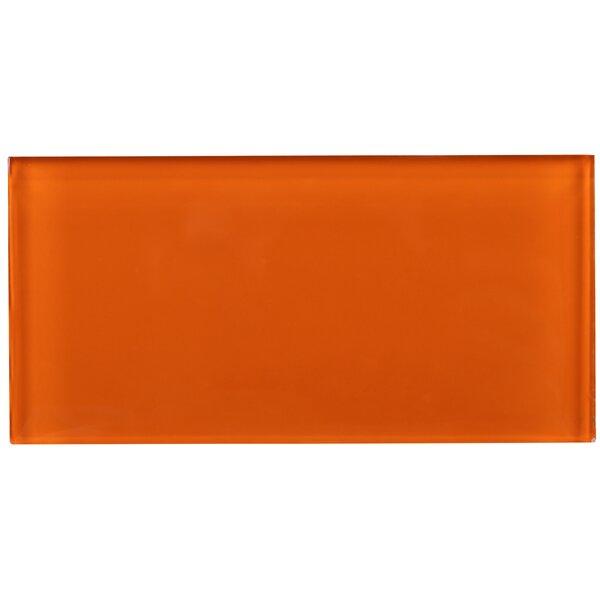 3 x 6 Glass Tile in Orange by Multile