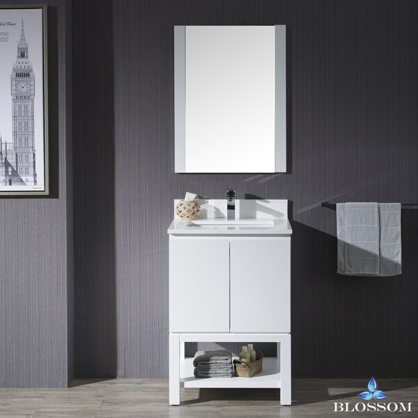 Maly 14 Single Bathroom Vanity Set with Mirror by Orren Ellis