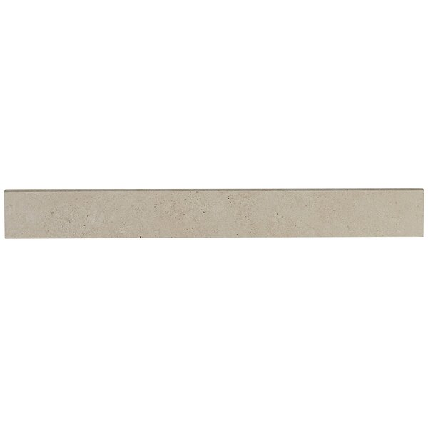 Haut Monde 24 x 3 Porcelain Bullnose Tile Trim in Aristocrat Cream by Daltile