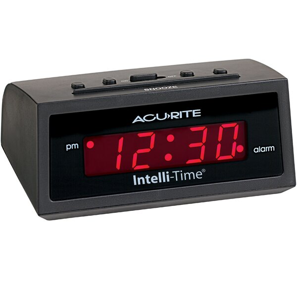 AcuRite Amber Intellitime Alarm Clock by Chaney