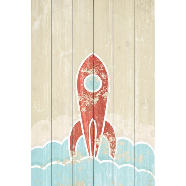 Blast Off Painting Print on Wood by Marmont Hill