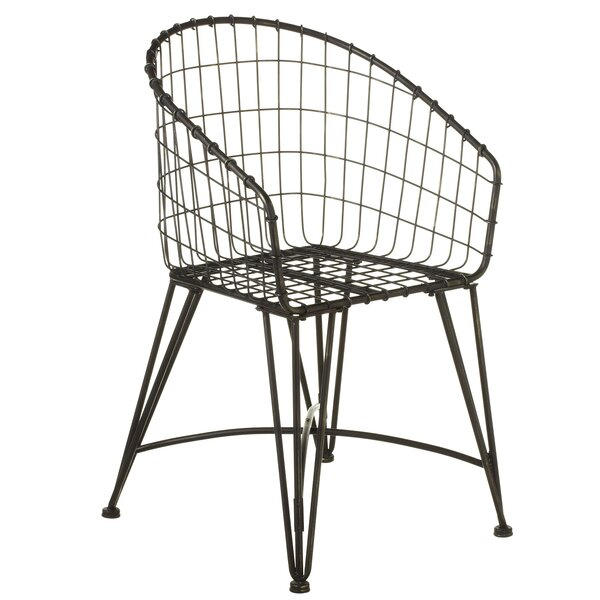 Aquinas Grid Wrap Around Bistro Patio Dining Chair by Gracie Oaks