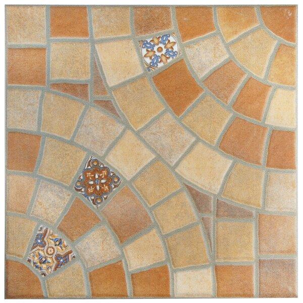 Ancara 13.13 x 13.13 Ceramic Mosaic Tile in Beige/Orange by EliteTile