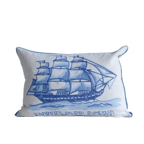 Williamsbridge Homeward Bound Cotton Lumbar Pillow by Breakwater Bay