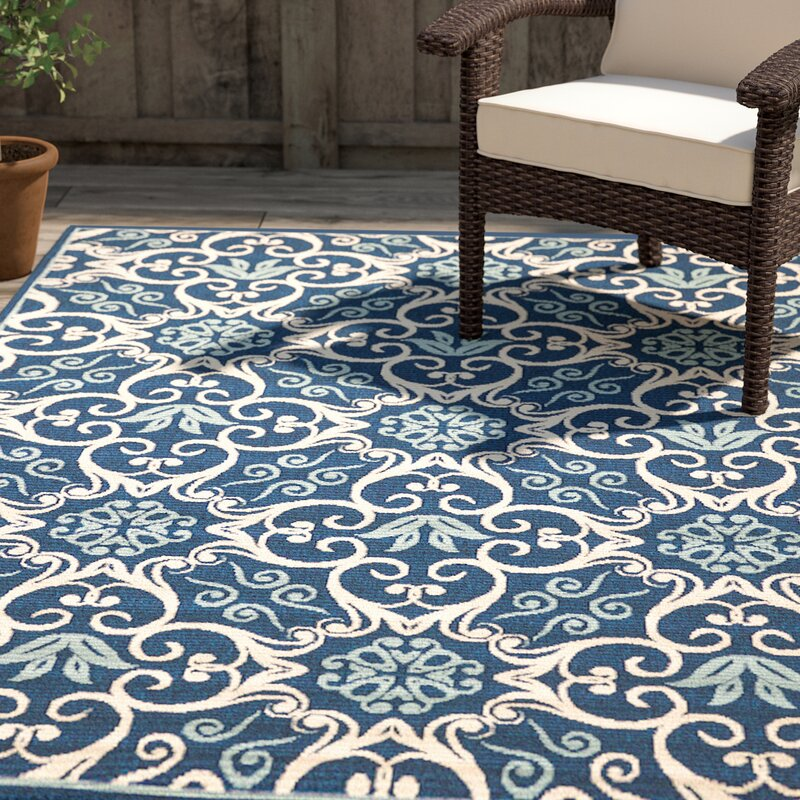 Alcott Hill Groveland Navy Indoor/Outdoor Area Rug & Reviews | Wayfair