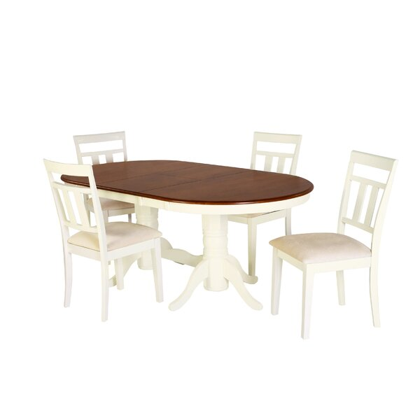 Alvy 5 Piece Solid Wood Dining Set by August Grove