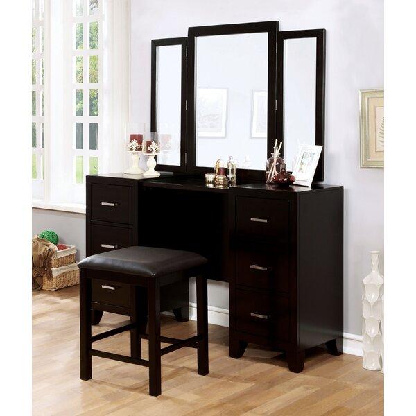 Berne 6 Drawer Dresser with Mirror by Darby Home Co