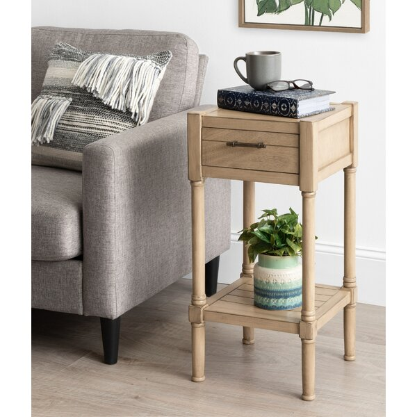Caspian Nightstand End Table With Storage By Highland Dunes
