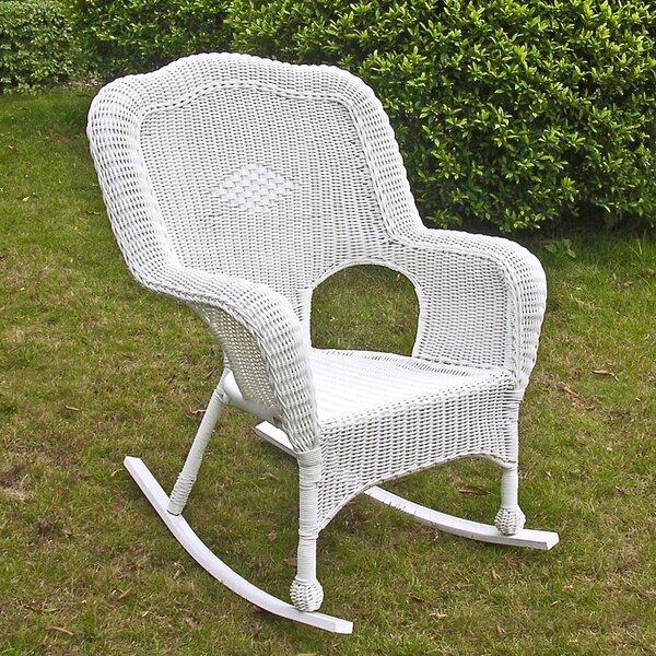 Dominic Resin Patio Rocking Chair by August Grove