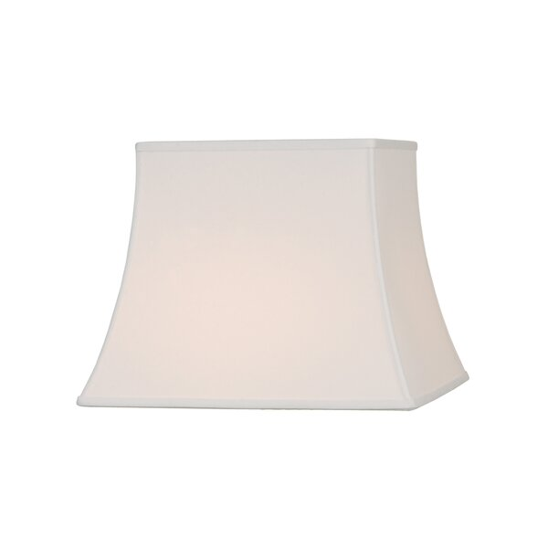 11 H Silk/Shantung Bell Lamp shade ( Spider ) in Off White