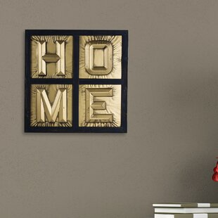 Home Sign 3D Metal Block Letters Framed Wall Décor
