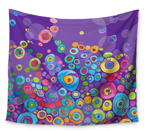 Inner Circle Purple by Catherine Holcombe Wall Tapestry by East Urban Home