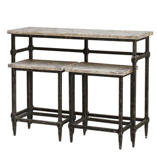 Elaina Bistro 3 Piece Pub Table Set by 17 Stories