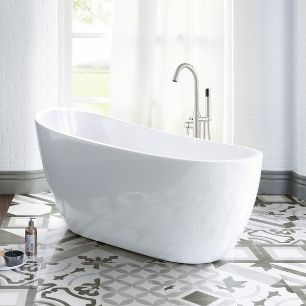 54 x 29 Freestanding Soaking Bathtub by WoodBridge
