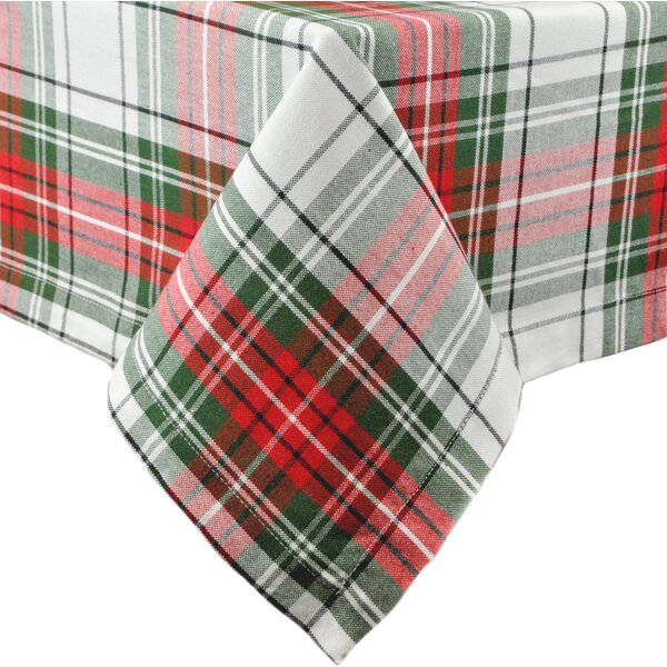 Xmas Plaid Tablecloth by Design Imports